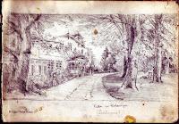 Uralte Zeichnung der Pohlmann Villa in Hohenaspe