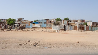 Afar village that has houses for hundres of locals
