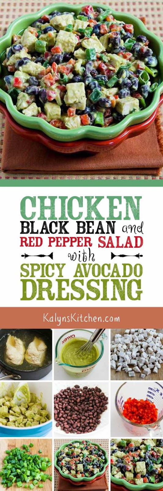 Chicken, Black Bean, and Red Pepper Salad with Spicy ...