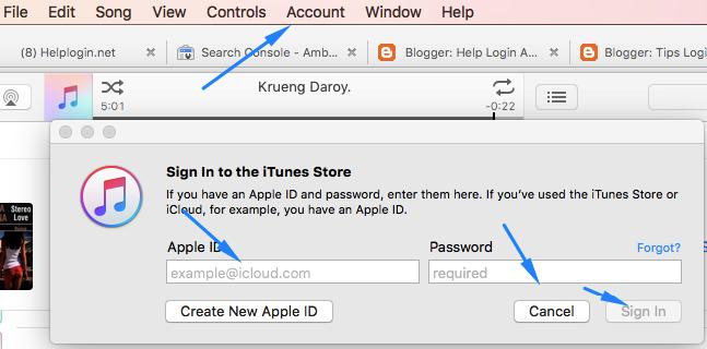 Open iTunes Store App for iTunes.com Login online