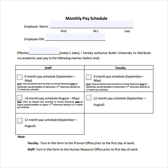 Simple Project Payment Schedule Templates - Excel Template