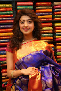 Pranitha Subhash inaugurates VRK Silks Showroom ~ Celebs Next