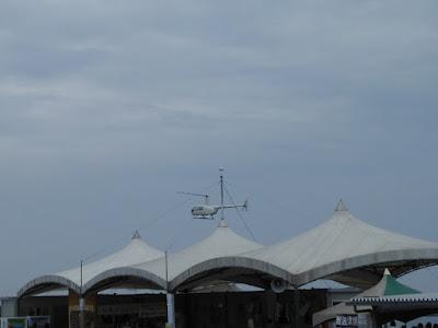 大阪舞洲ゆり園 ヘリコプター