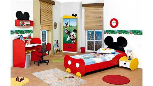 Dormitorios infantiles de mickey mouse - Cuartos infantiles nino ...