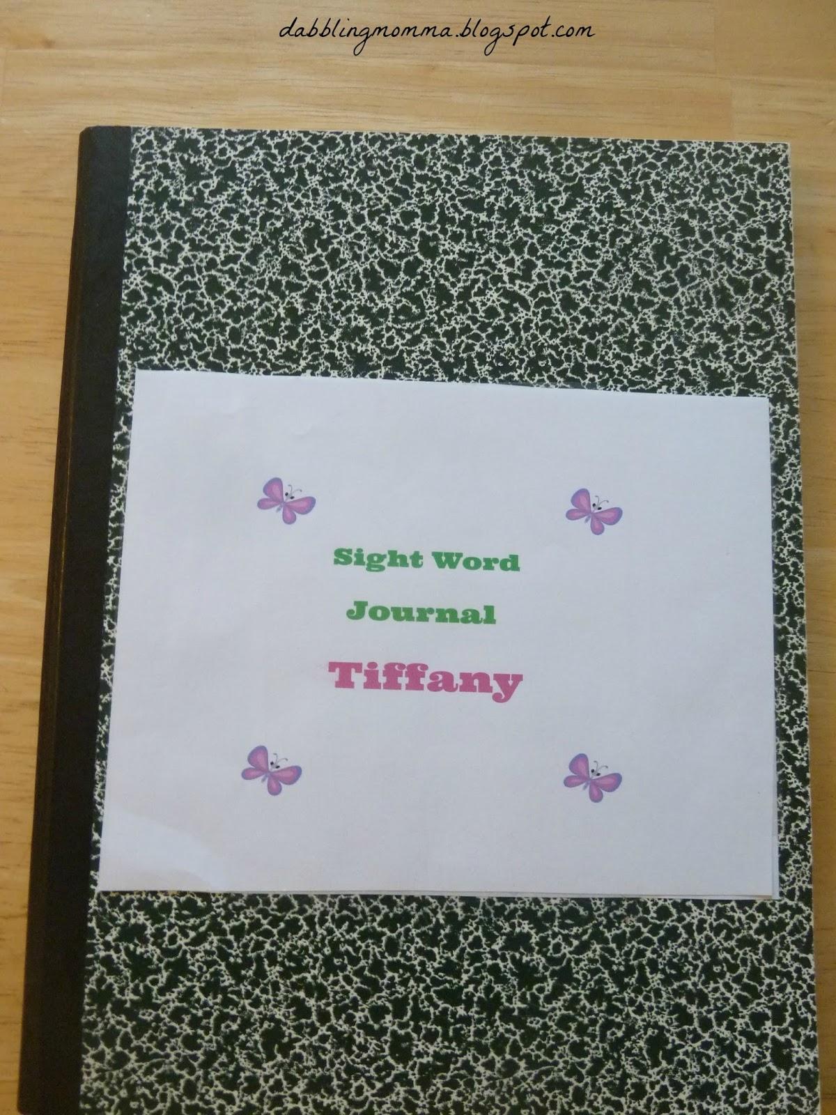 Dabblingmomma Sight Word Journal