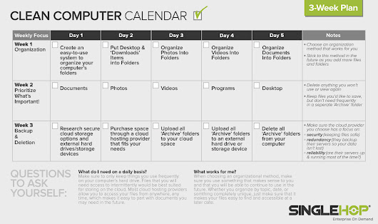 "Spring Cleaning Your Computer! A 3-week ""Clean Computer Calendar"""