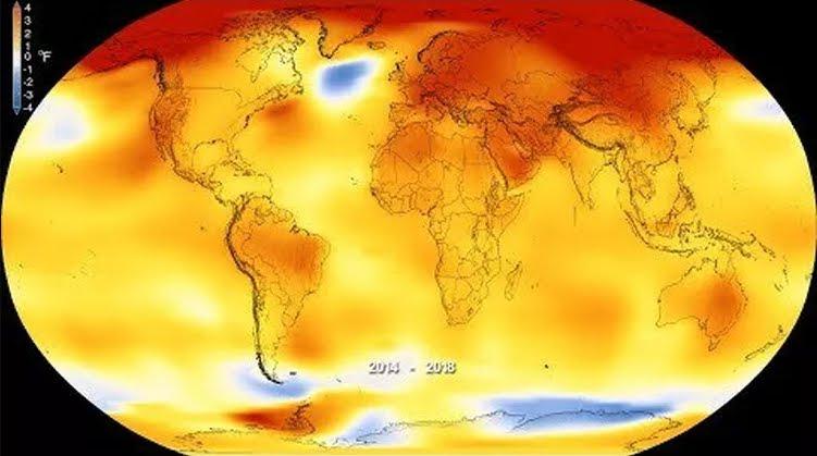 Riscaldamento globale: 4° anno più caldo della storia.