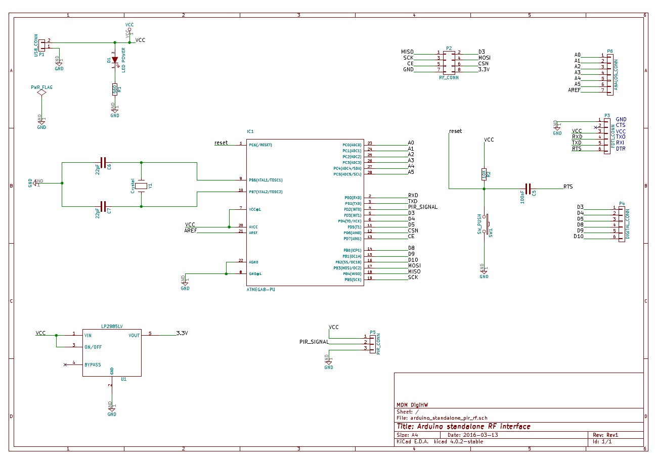 Mdmelettronicando Arduino Standalone Rf Nrf24l01 Pir Sensor Interface Interfacing With Electrical Diagram