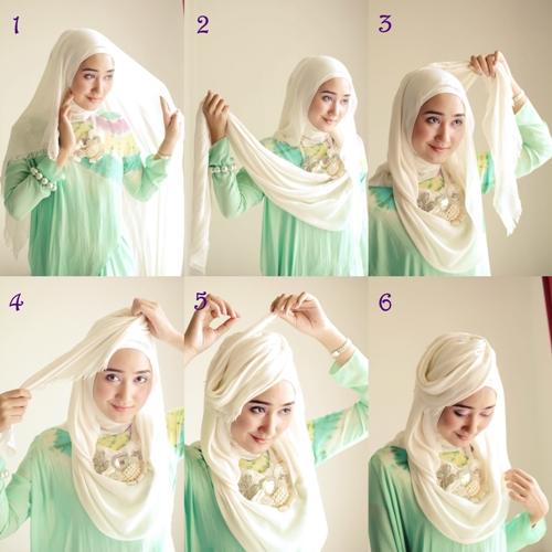 Cara Terbaru Memakai Hijab Modern Ala Dian Pelangi