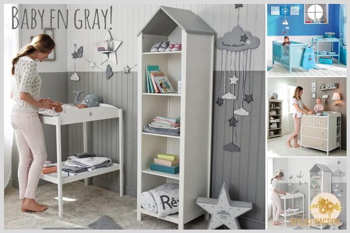 Cuarto para BB en escala de grises y complementos en color