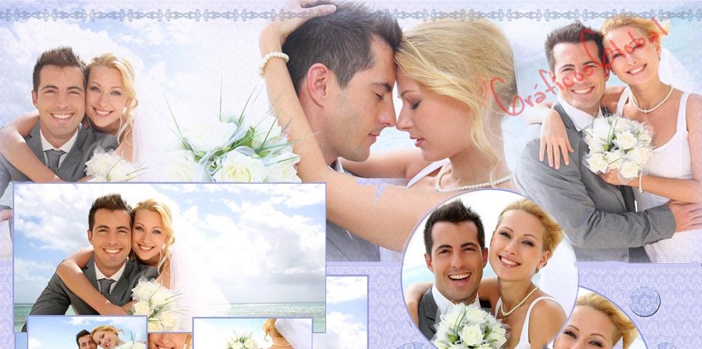 Plantillas psd para crear FotoAlbum bodas No3