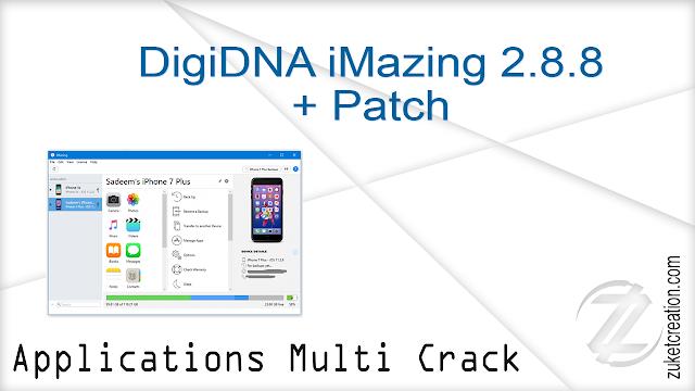 DigiDNA iMazing 2.8.8 + Patch   |  121 MB