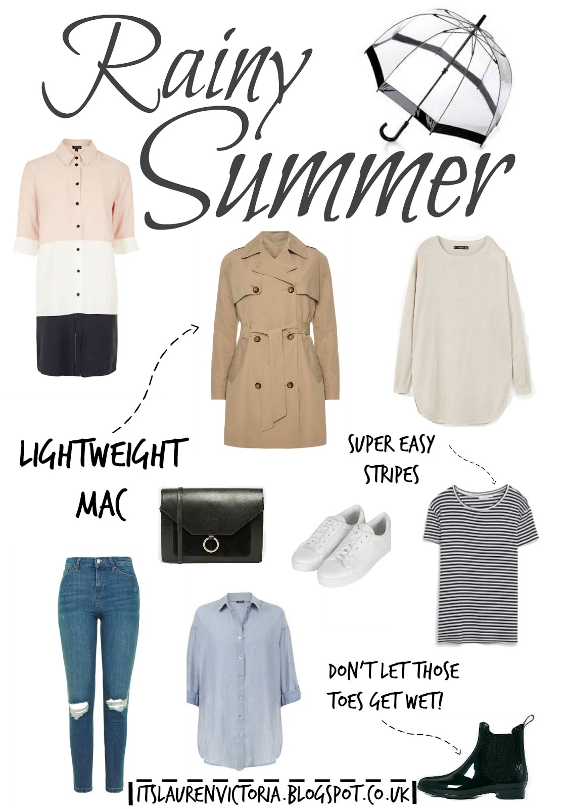 The Ultimate Outfit Guide For A Rainy Summer