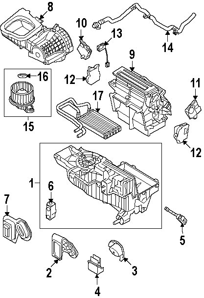 Diagrams  Ford Taurus X 2008 Evaporator Parts