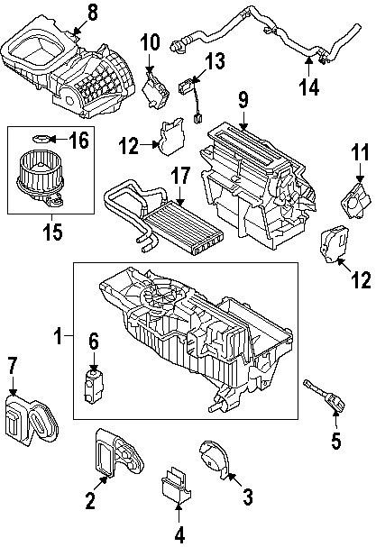 Diagrams  Ford Taurus X 2008 Evaporator Parts