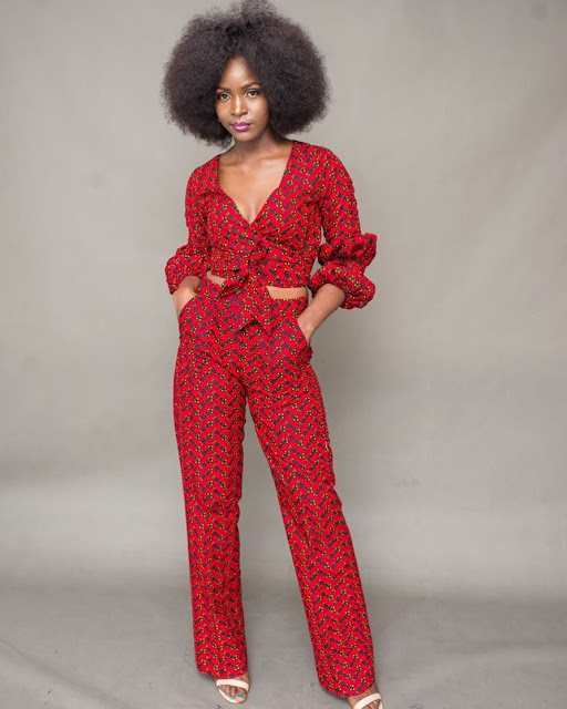 STYLISH ANKARA TROUSER AND TOP STYLE