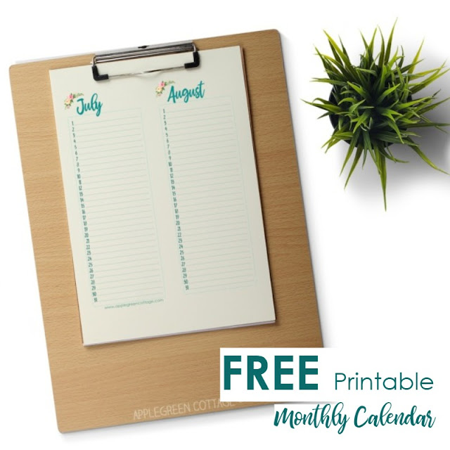 photograph regarding Free Printable Perpetual Birthday Calendar Template identified as Every month Calendar - Absolutely free Printable For All the Birthdays