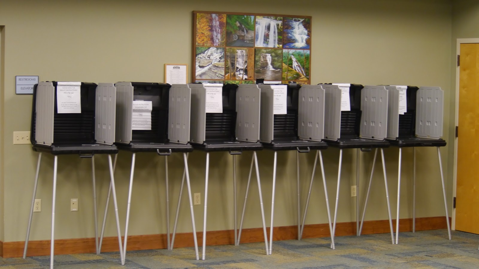 Voting Booths at the North Franklin Precinct
