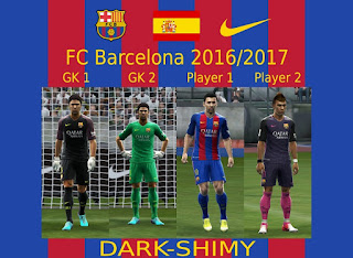 Kits FC Barcelona 2016-2017 Pes 2013 By Dark-Shimy
