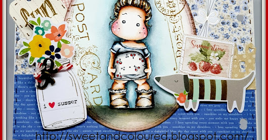 Nuovo post per Timbroscrapmania I Love Summer