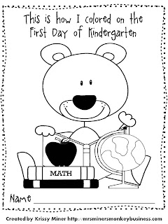 First Day Of School: First Day Of School Coloring Activities