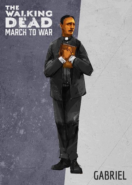 The Walking Dead: March to War - padre Gabriel