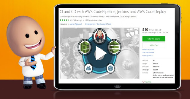 [93% Off] CI and CD with AWS CodePipeline, Jenkins and AWS CodeDeploy| Worth 150$