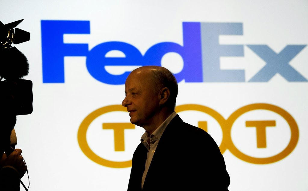 歐元貶值,促成美國FedEx收購荷蘭TNT Express