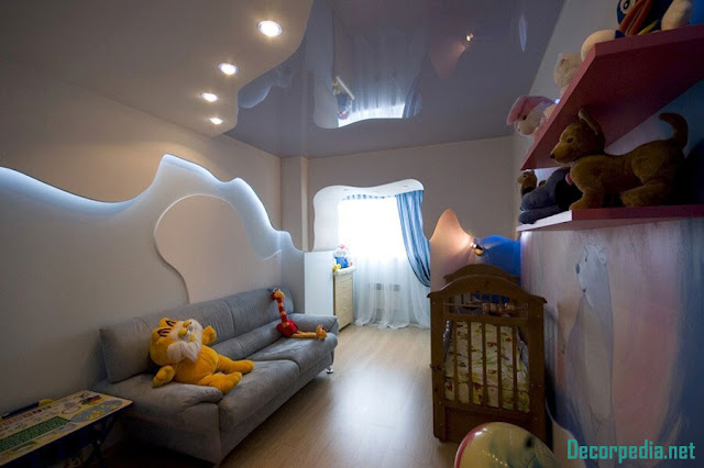 kids room ceiling designs and ideas, stretch ceiling