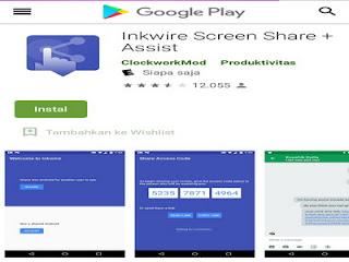 Inkwire Screen Share + Assist berguna untuk mengetahui aktivitas handphone orang lain
