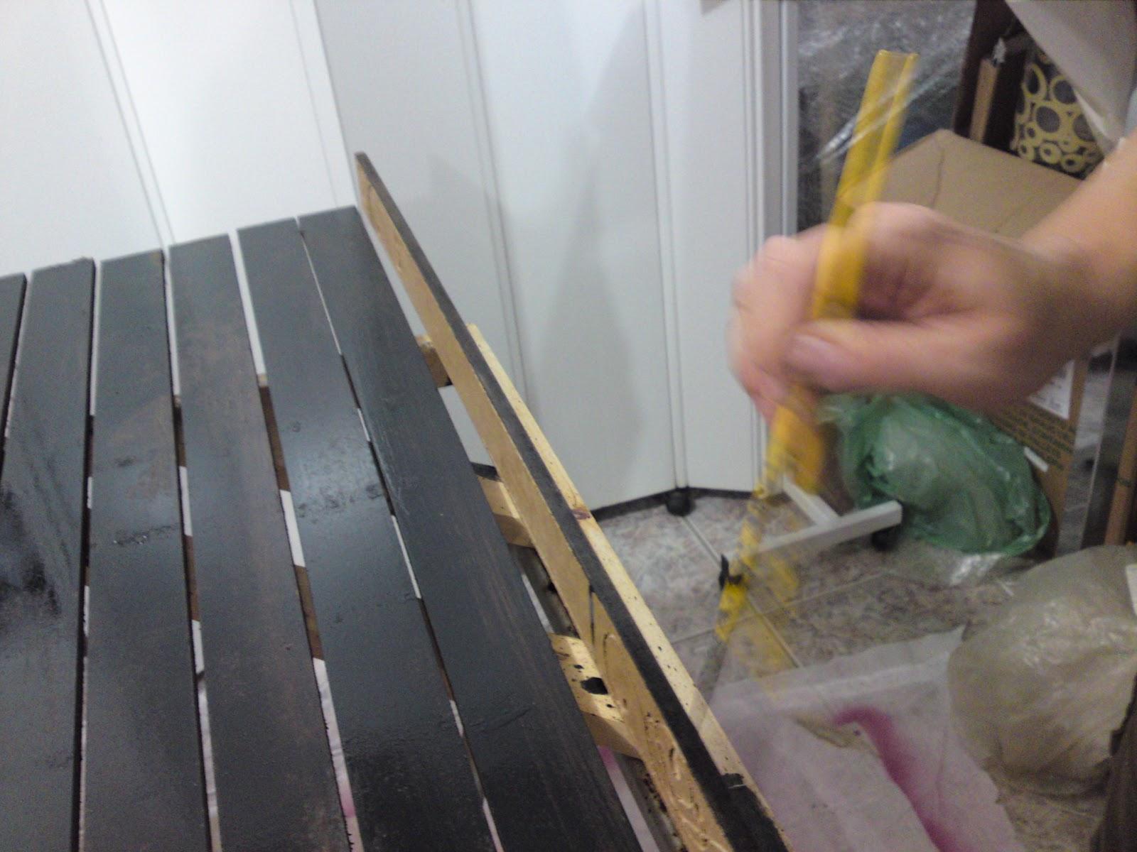 Hh moda arte decor passo a passo pintura ouro velho - Pintura para craquelar ...