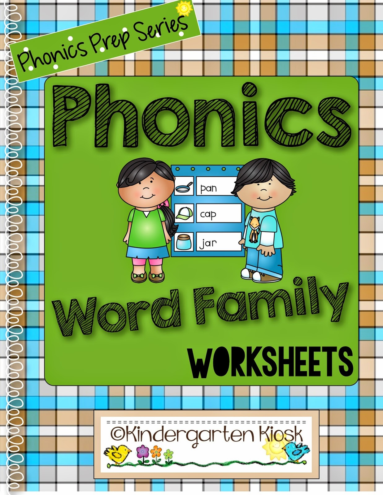 Kindergarten Kiosk Phonics Prep Series Word Family