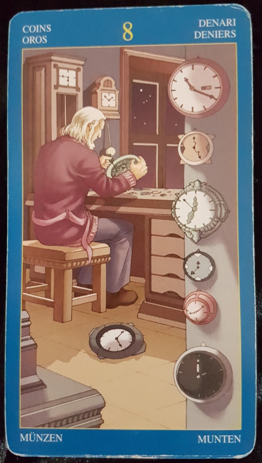 Wizard Oron Metaphysical And Mystical Realms The 8 Of Coins And
