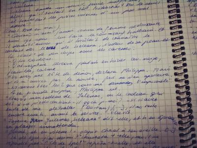 Page de carnet de notes livresques - mes bizarreries de lectrice