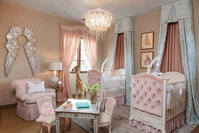 Cuartos de beb en rosa y gris dormitorios colores y estilos for Cuartos para ninas gemelas
