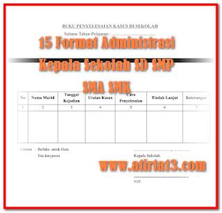Contoh 15 Format Administrasi Guru Dalam 1 File Format Words.Doc