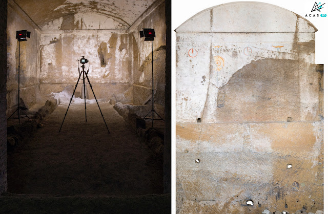 ACAS3D - Photogrammetric station and fresco orthophoto - hypogeum site of Naples Necropoli (Italy)