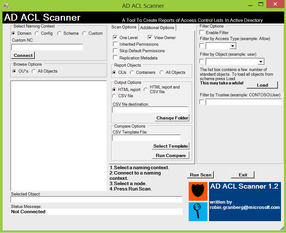Gregory Lucand S Blog Active Directory Ad Acl Scanner Tool