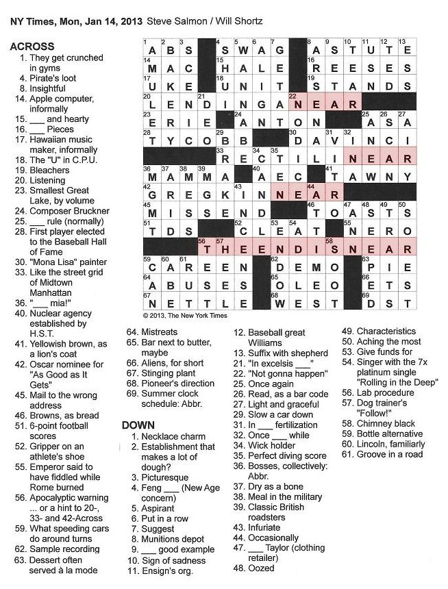 The New York Times Crossword in Gothic: 01.14.13 — The End