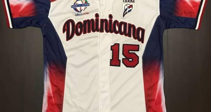 La Liga de Béisbol muestra el uniforme dominicano de la Serie del Caribe