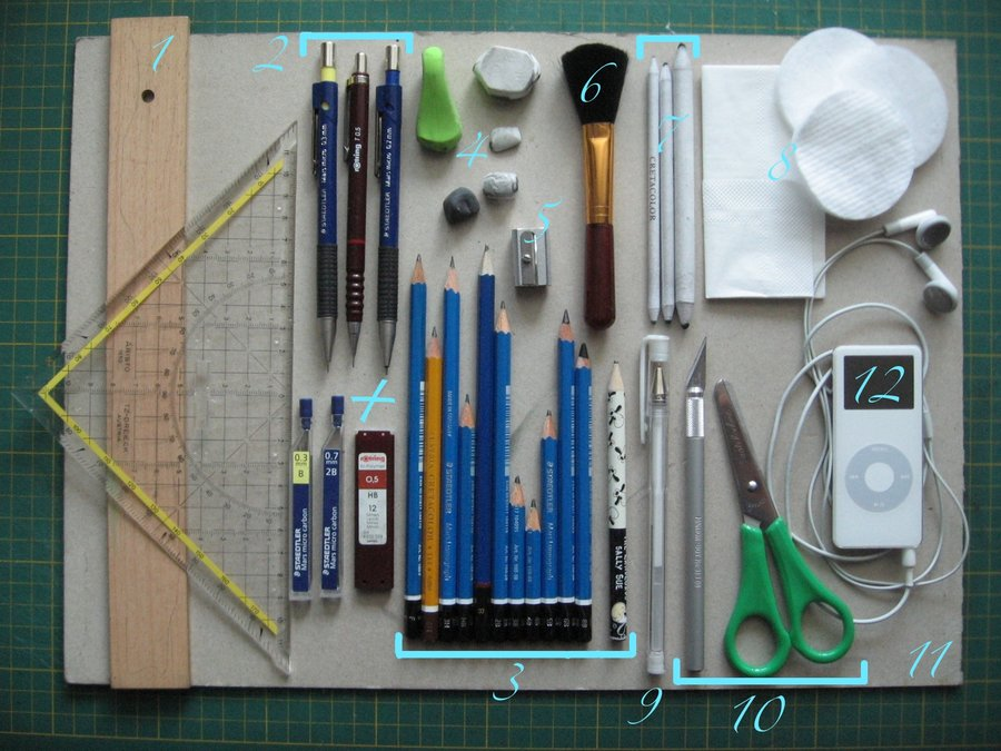 DeAnza Life Drawing: Drawing Supplies and Working with Conte Crayons