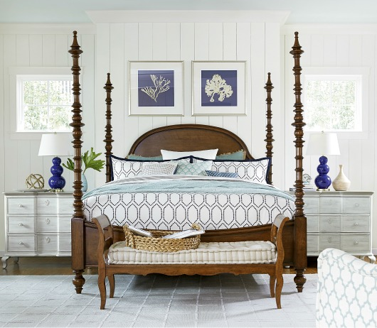 Beautiful Dark Wood Poster Bed