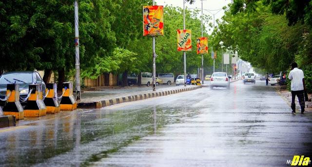 صورة شارع عام  من العاصمة السودانية الخرطوم