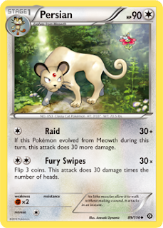 Persian Steam Siege Pokemon Card