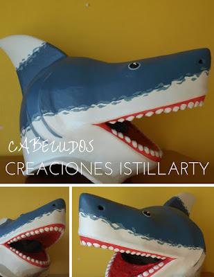 creaciones istillarty cabezudo tiburon