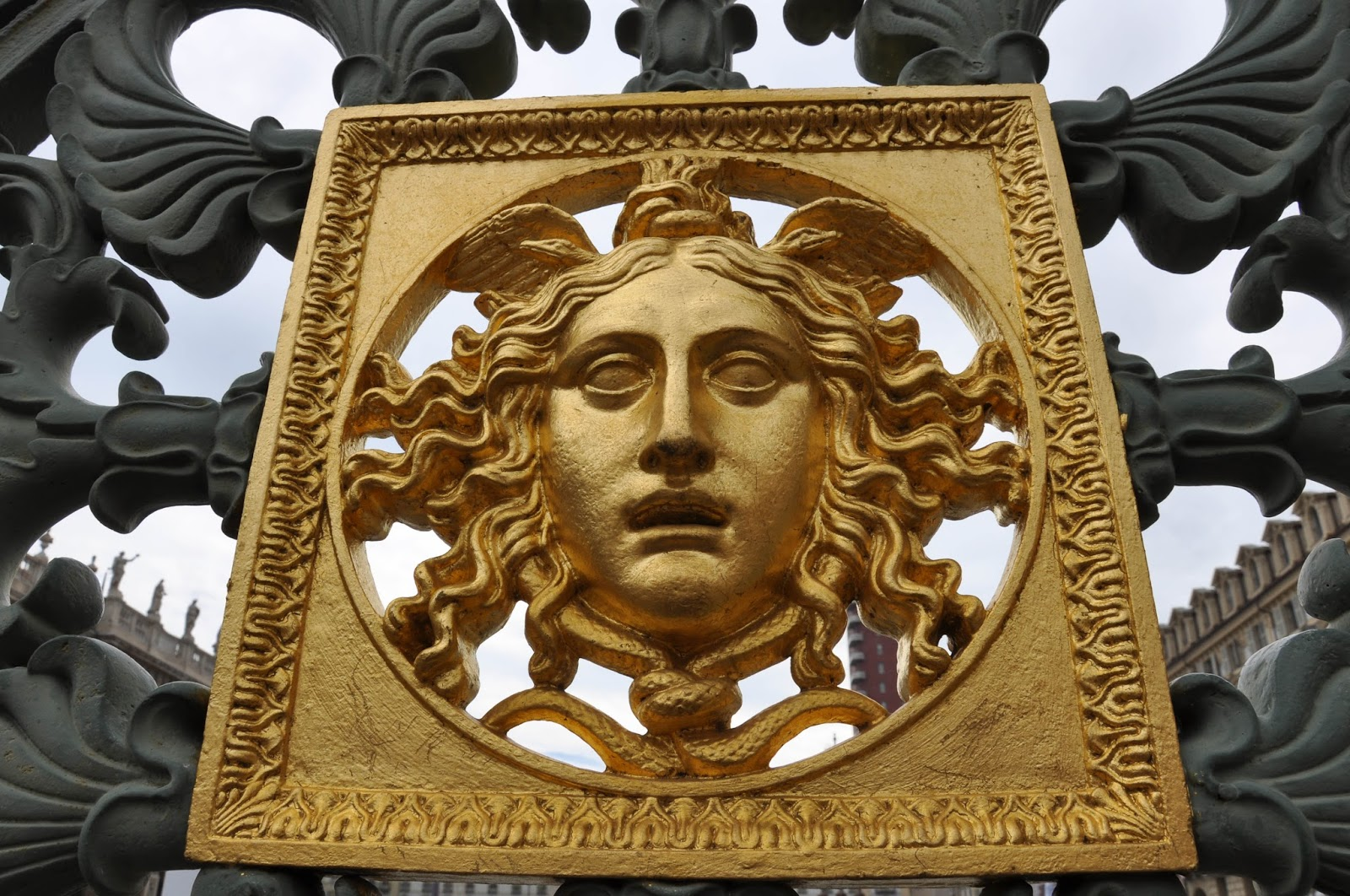 Ornamentation on the fence of the Royal Palace, Turin, Italy