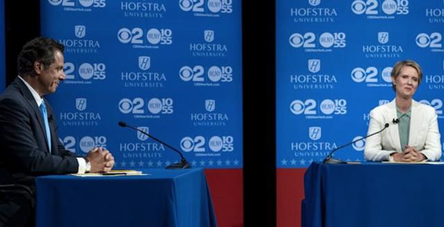 Cynthia Nixon Tells Cuomo to 'Stop Lying' During Heated Debate