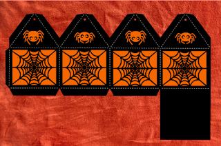 Caja de halloween: Telaraña.