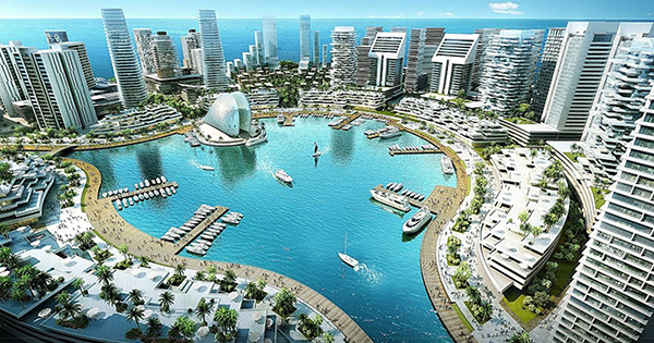 Eko Atlantic City in Lagos, Nigeria
