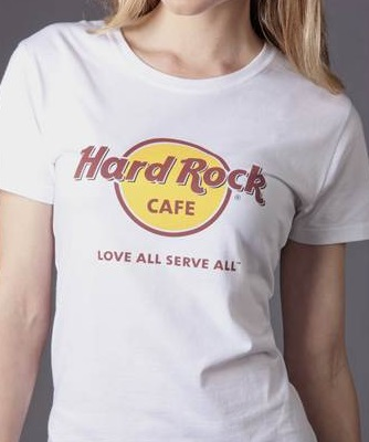 prettytreasure2u hard rock cafe chicago t shirt for ladies. Black Bedroom Furniture Sets. Home Design Ideas